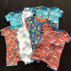 Bundle / Lot 5 Short Sleeve One Piece Pyjamas